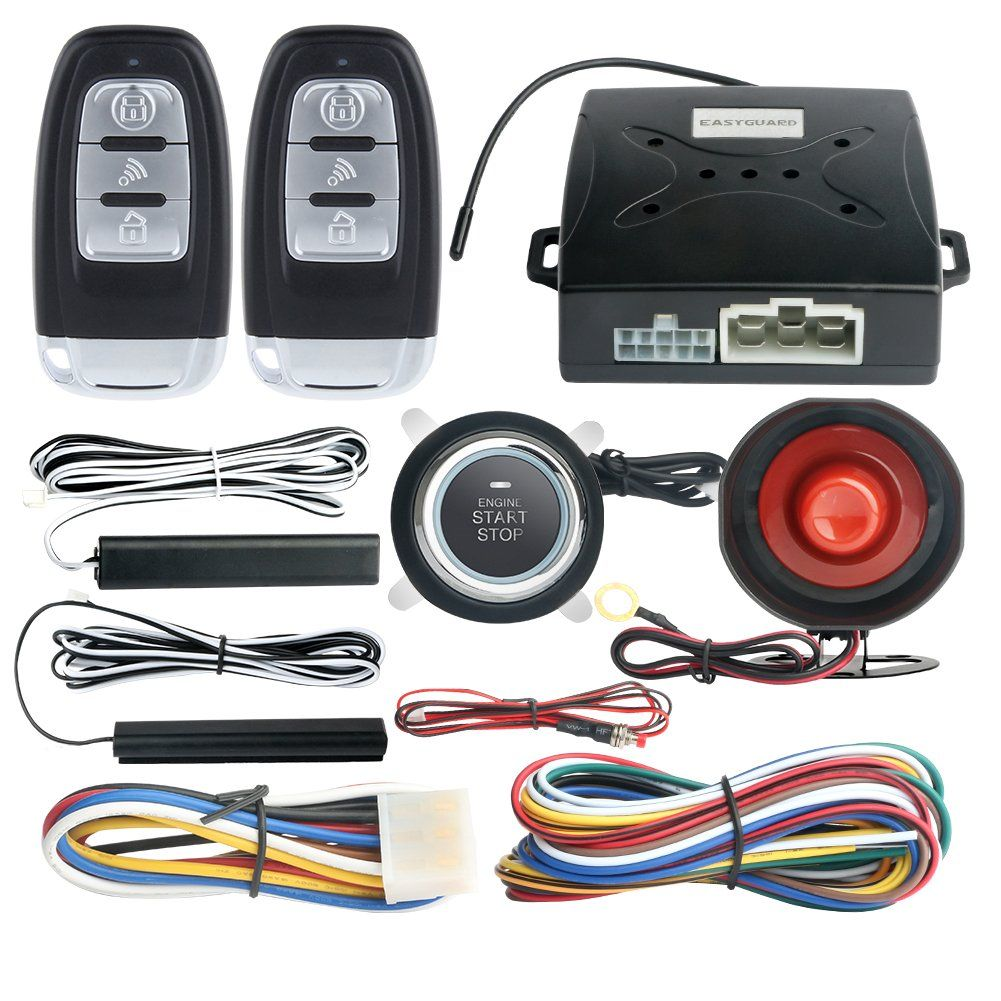 EASYGUARD EC003 Smart Key PKE Passive Keyless Entry Car Alarm System ...