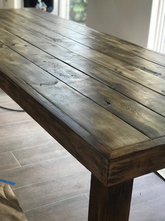 Rustic Dining Table Farmhouse Distressed Wood