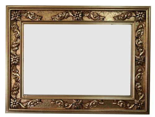 French decorative hand carved wood solid frame ornate hand painted ...