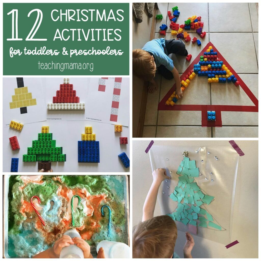 Christmas Activities For Toddlers And Preschoolers With