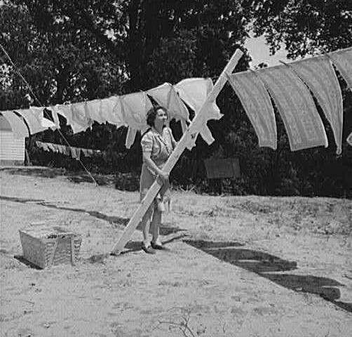 Secadora de ropa usada por mis abuelas