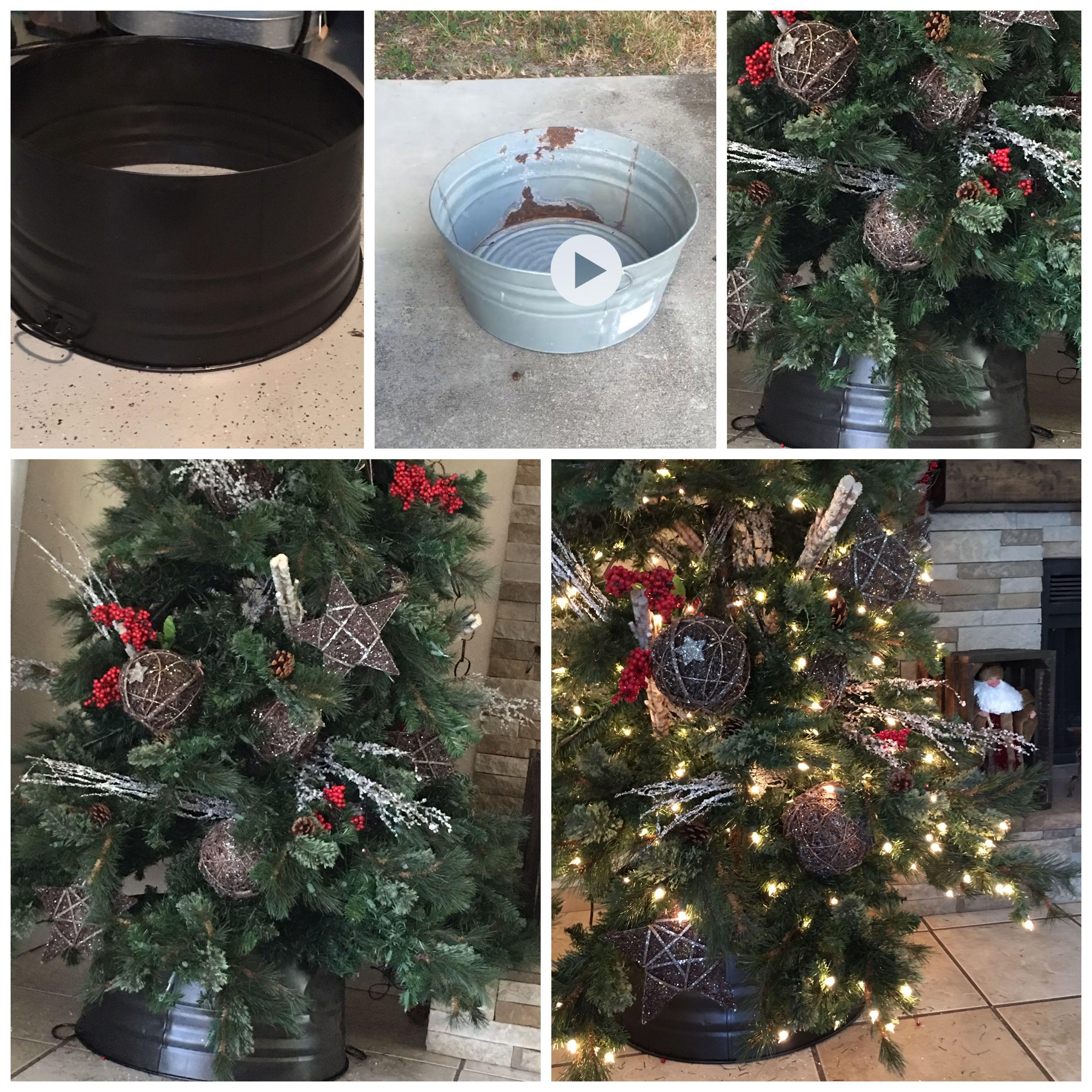 DIY Galvanized Tree Collar sold in department stores 50