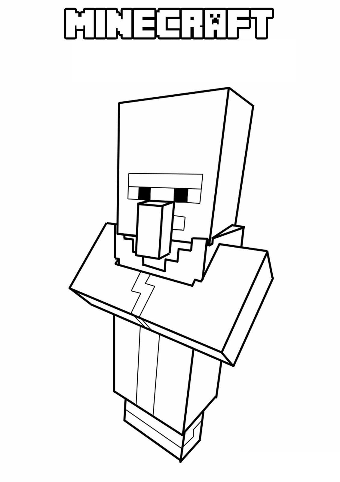 Minecraft Puppy Coloring Page