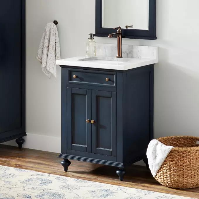 24 Keller Mahogany Vanity For Rectangular Undermount Sink In