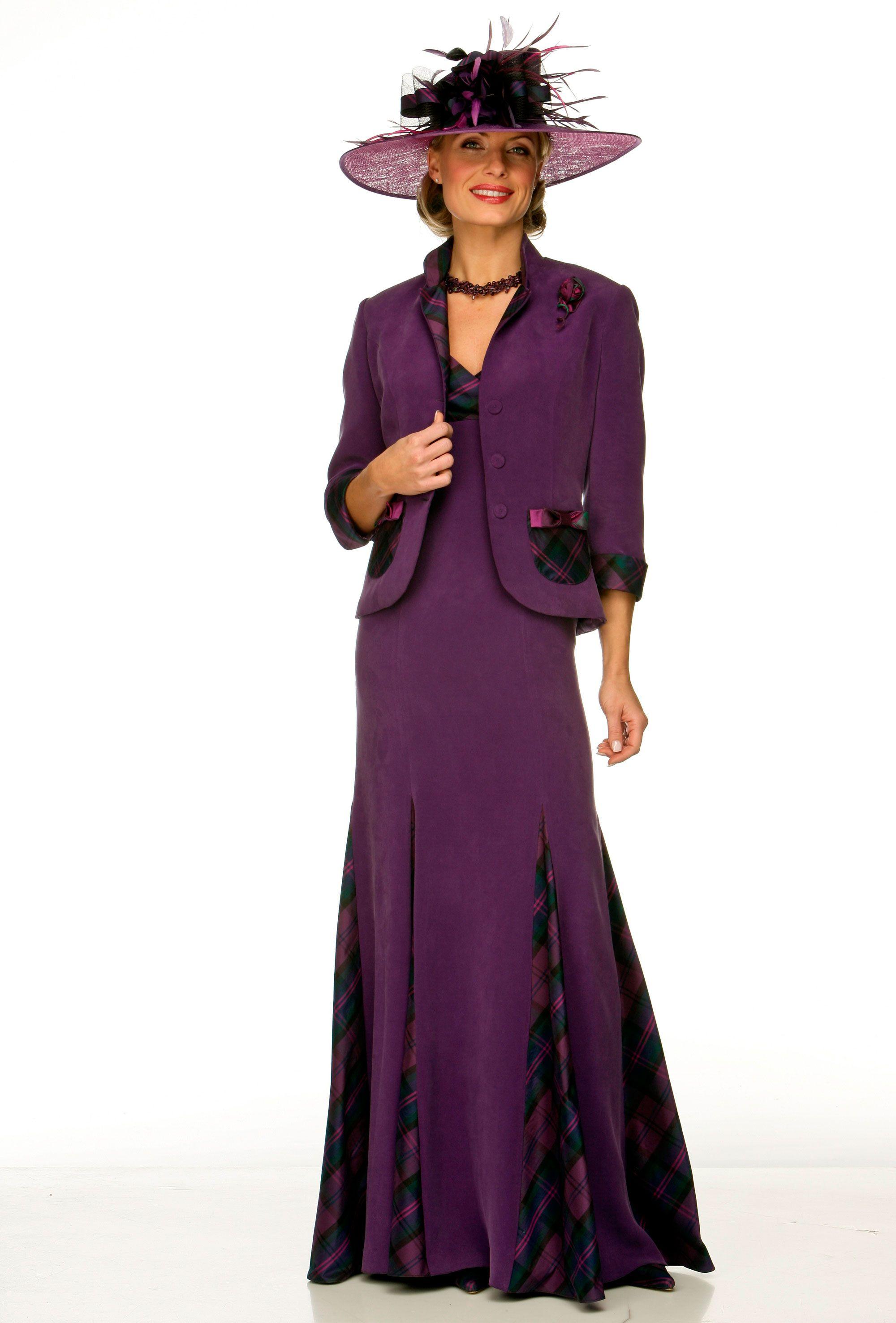 Dress and jacket with tartan detail | Fashion | Pinterest | Joyce ...