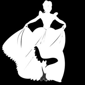 White Princess Silhouette In Black Background Clip Art Clip Art Clip Art Pictures Disney Background