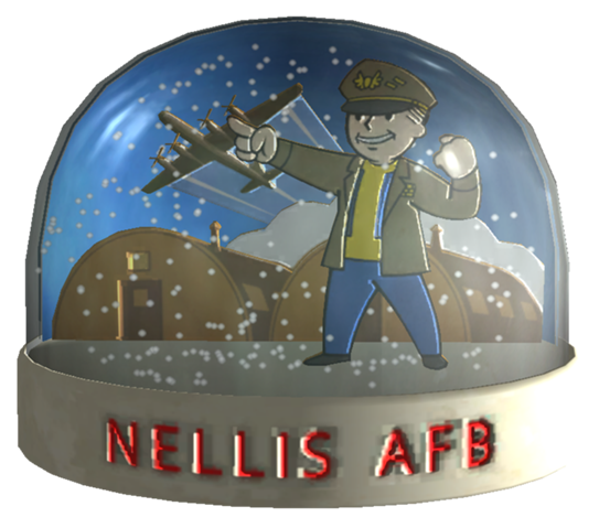 Fallout New Vegas: Nellis Air Force Base Snowglobe