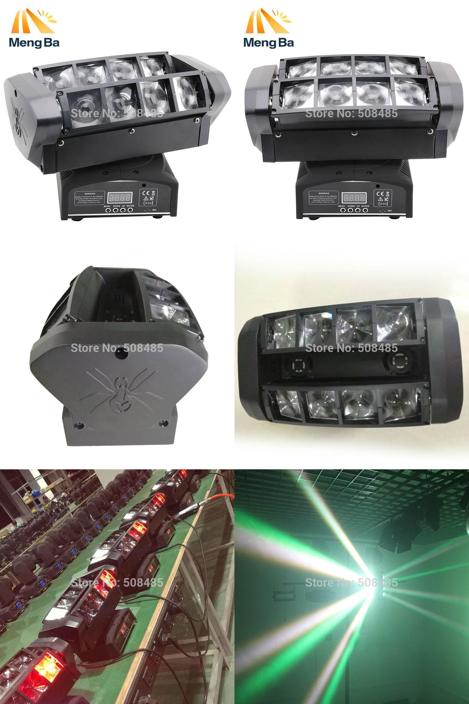 Visit To Buy 2pcs Led 8 10w Rgbw Cree Beam Light 8 Eyes Mini Spider Light Dmx512 Moving Head Light Dj Fest Home Bar Sta Spider Light Dj Lighting Home Bar