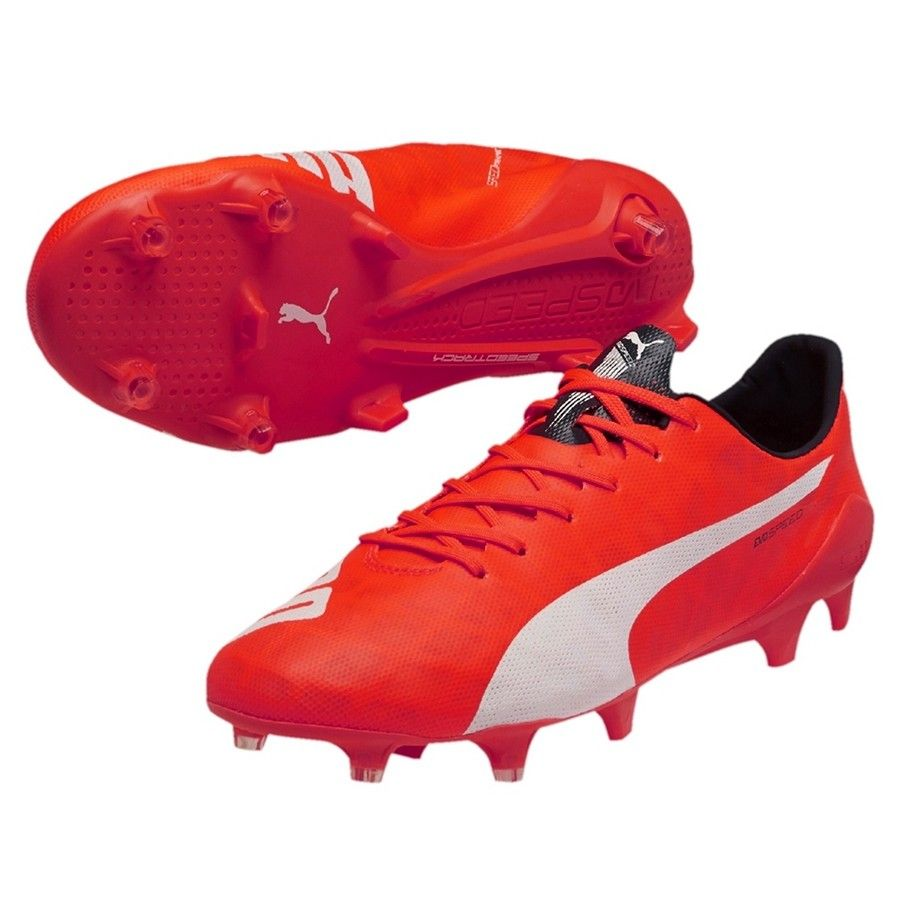 dab42908624 Sale 40% Puma evoSPEED SL FG Men s Soccer Cleats Lava Blast White Total  Eclipse