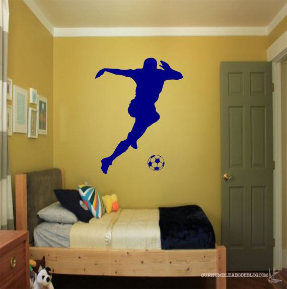 Soccer Player Wall Decal soccer wall decor sports by SportsVinyl ...