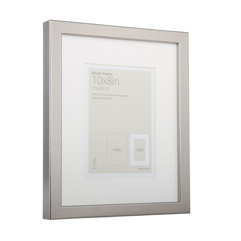 Metallic Silver Frame 10 X 8 Inches Silver Frame Frame Frame Display