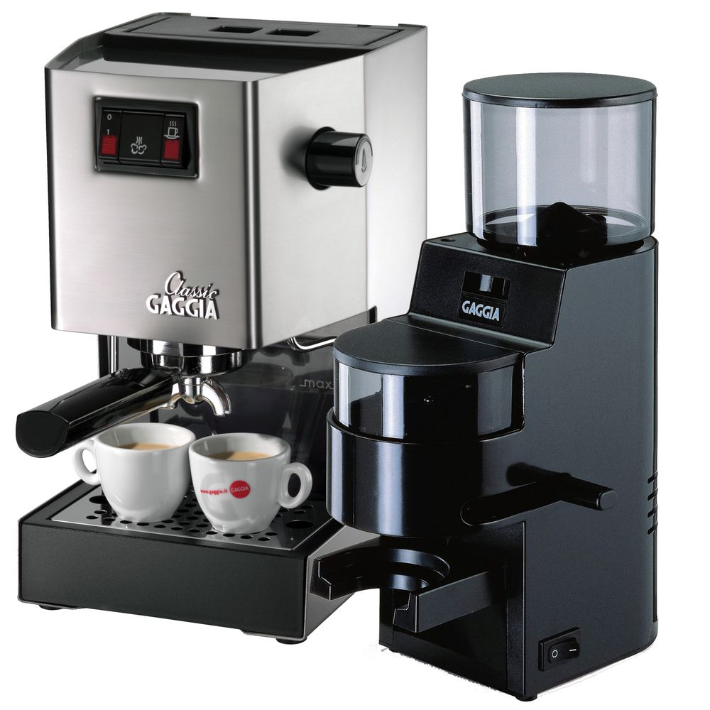 Princess Classic Coffee Maker And Grinder : Gaggia Classic and MDF Brew-Ready Pack - Whole Latte Love Espresso Machine & Grinder Packages ...