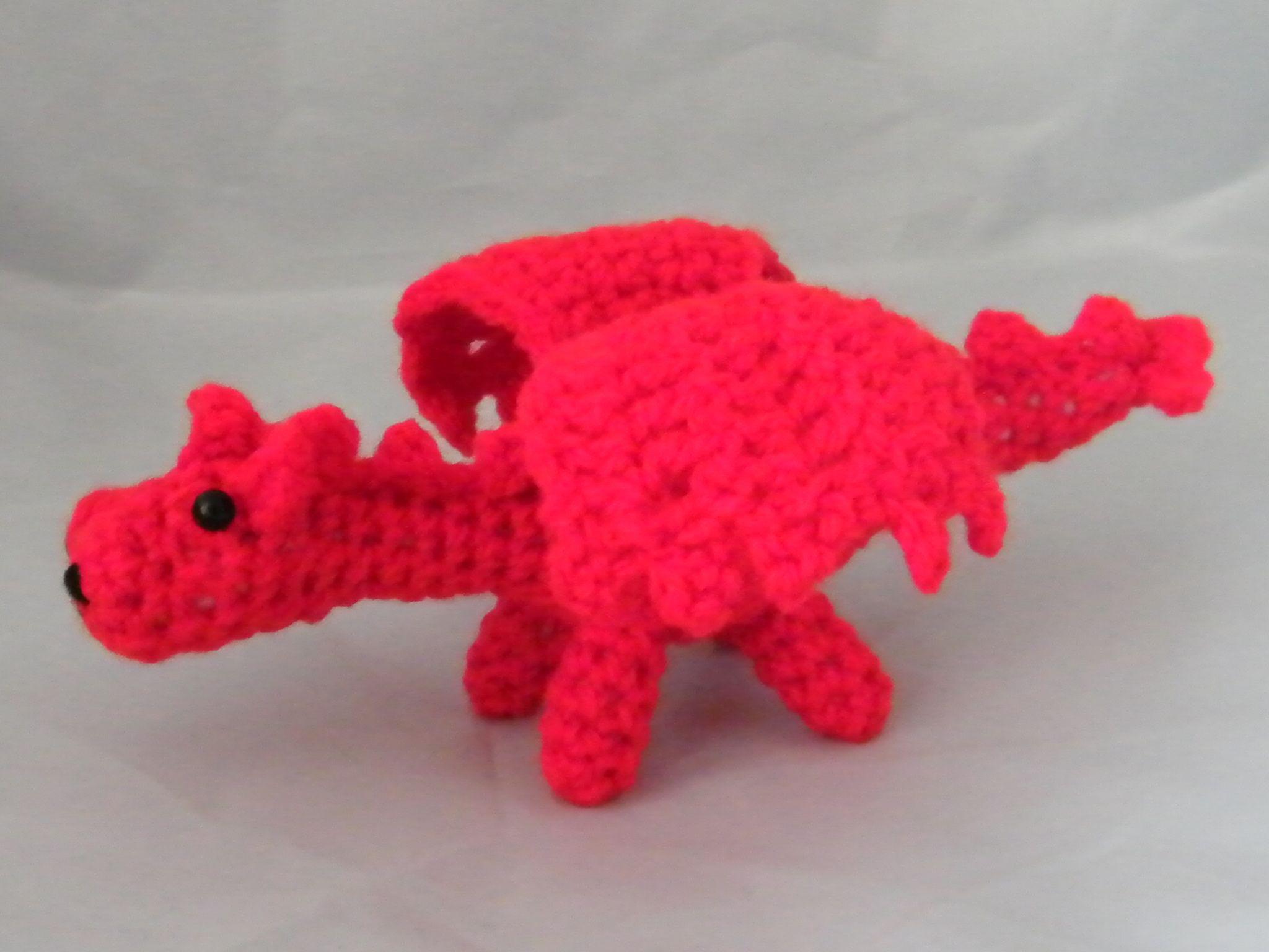 Welsh Dragon Free Crochet Pattern : lil welsh dragon knit and crochet Pinterest