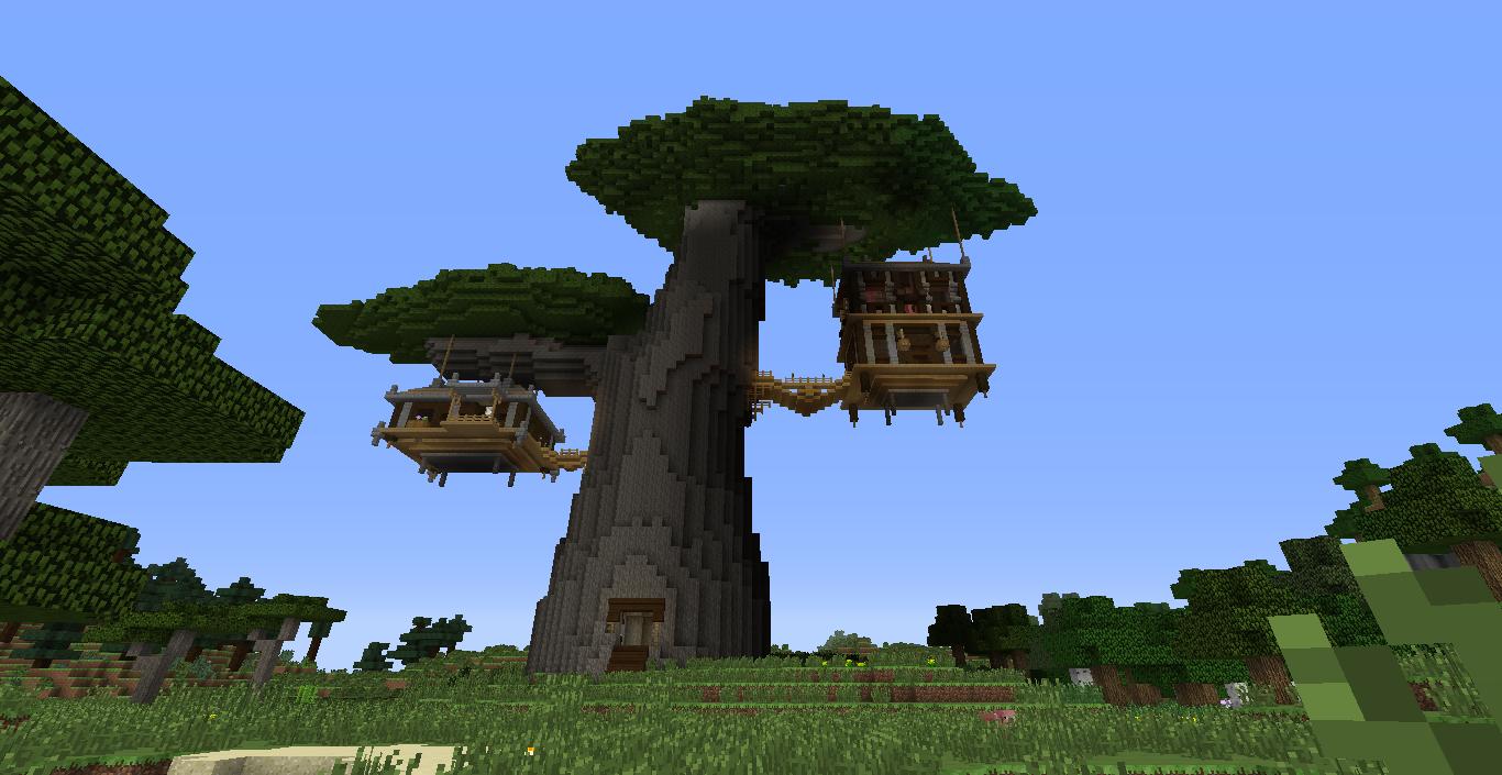 Карта дом на дереве для майнкрафт 1.8.8