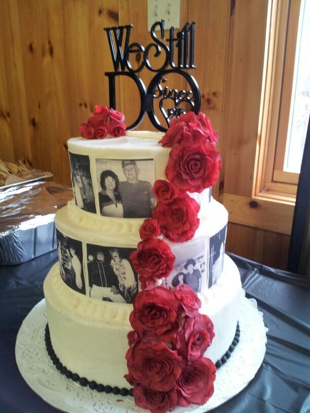 40th wedding anniversary cake my creations pinterest for 40th wedding anniversary decoration ideas
