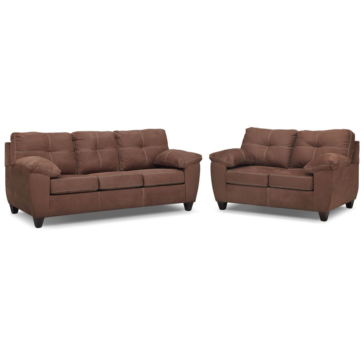 Ricardo Queen Memory Foam Sleeper Sofa And Loveseat Set Coffee