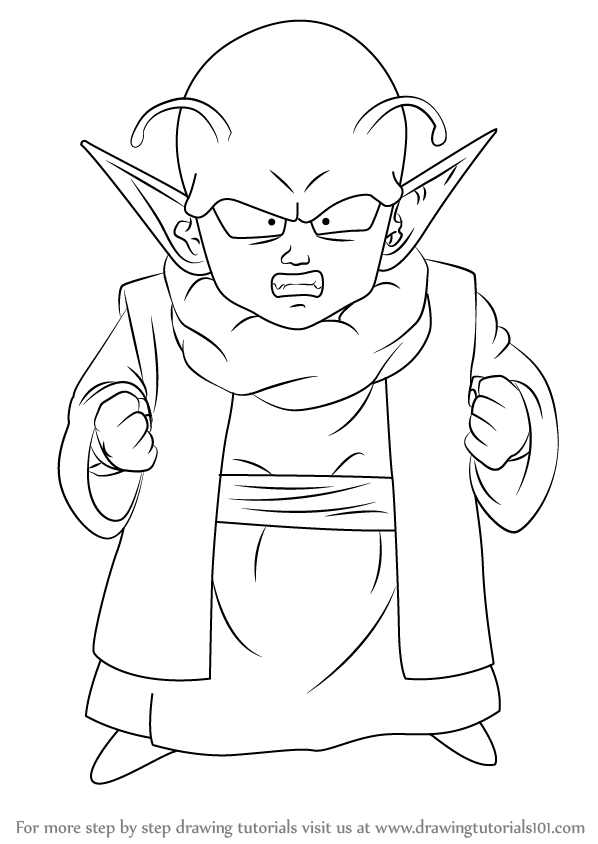 Learn How to Draw Dende from Dragon