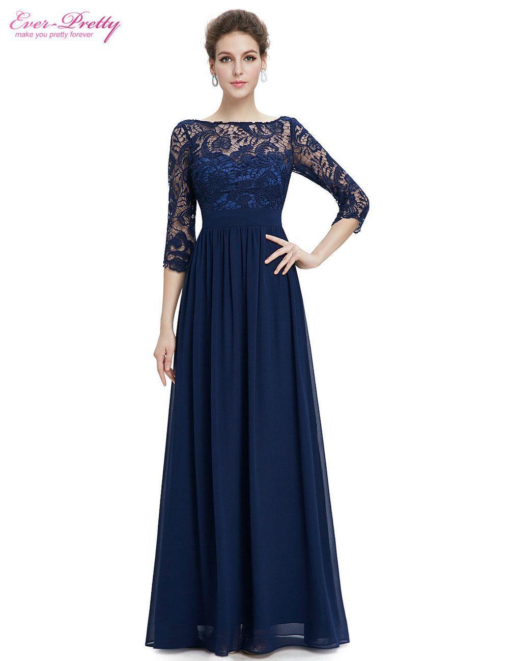 MACloth Women High Neck Lace Chiffon Long Prom Dress Formal Party Ball Gown (EU32, Marfil)