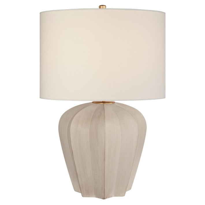 Aerin Pierrepont Stone White Table Lamp Williams Sonoma White Table Lamp Table Lamp Design Table Lamp