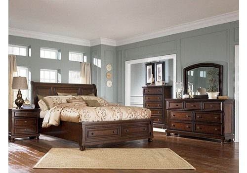 Homemakers Furniture King Bed Dresser Mirror Amp Nightstand Ashley Furniture Bedroom Master