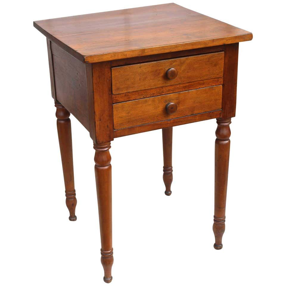 American Sheraton Cherrywood Side Table For Sale At 1stdibs Vintage Side Table Side Table Side Tables For Sale