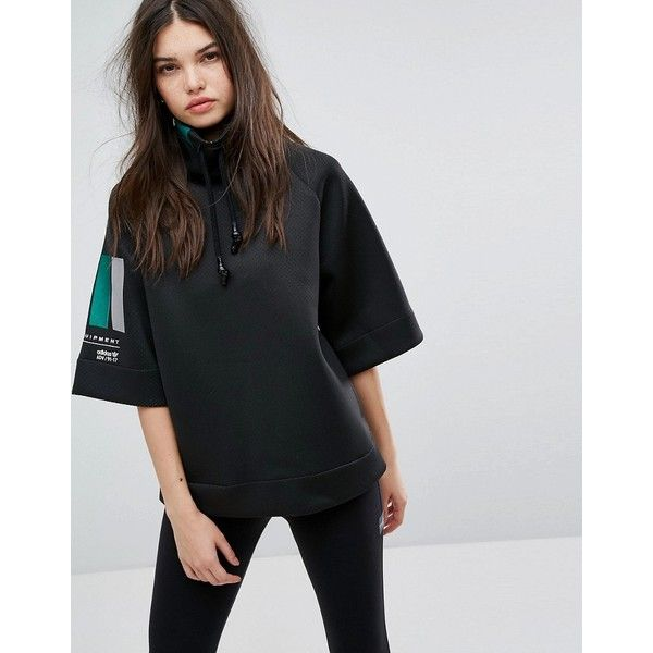 adidas EQT High Neck Sweater In Black