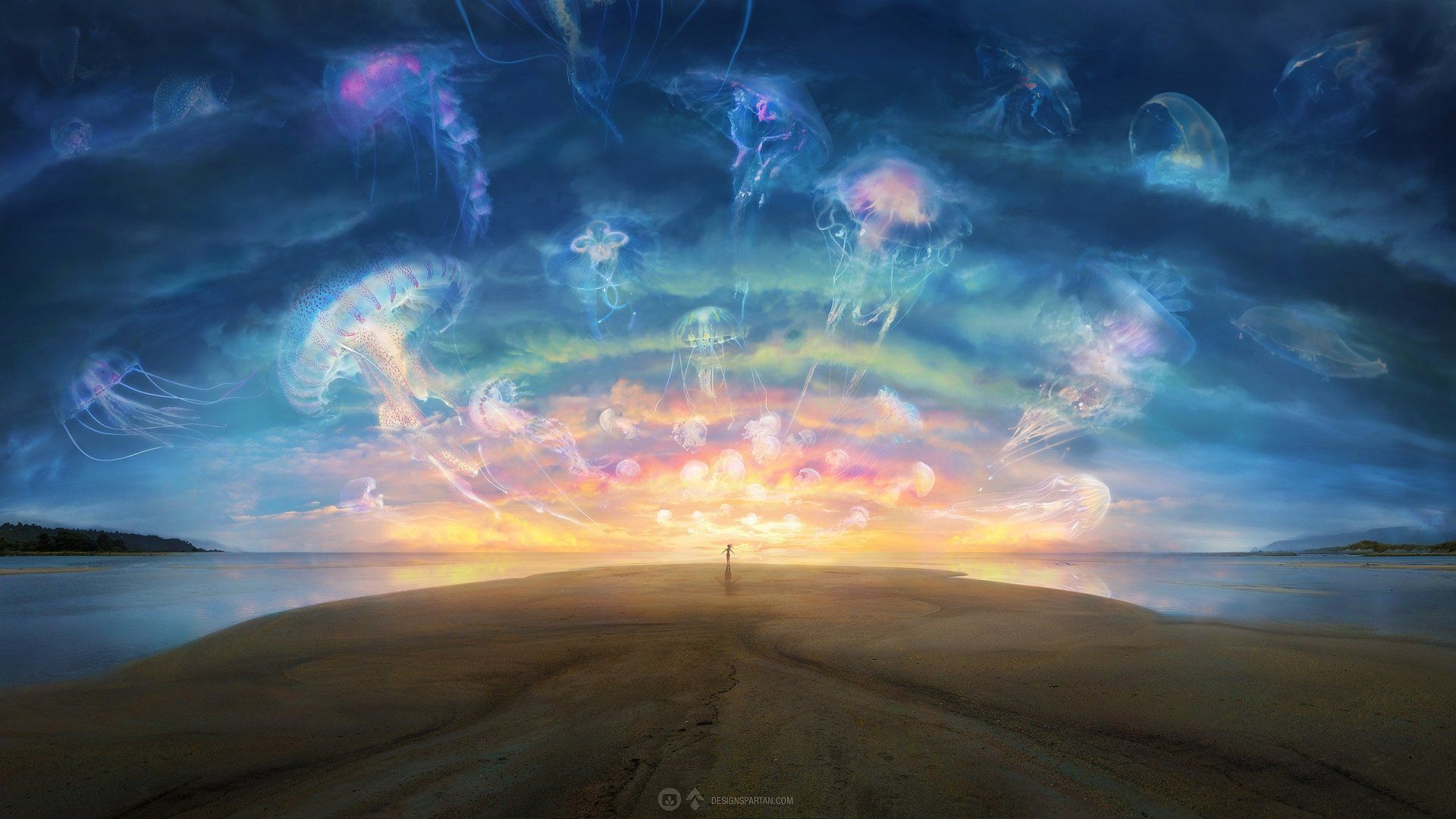 Serene Anime Scenery Wallpaper Clouds Scenery Wallpaper