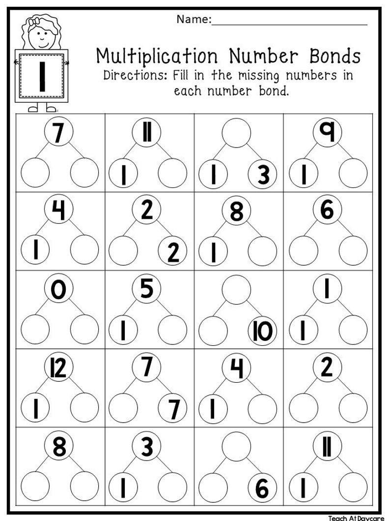 7 Rainbow Number Bond Worksheet Number Bonds Worksheets Basic Math Worksheets Number Bond Kindergarten rainbow math worksheets