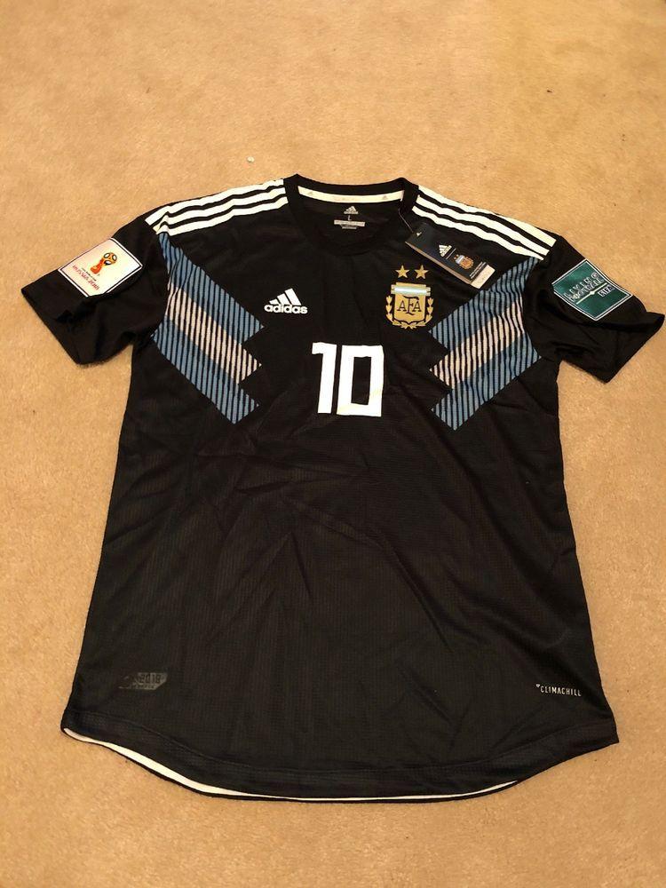 4ae552d5e Adidas Argentina 2018 FIFA World Cup Jersey Messi L Aguero Di Maria  Barcelona