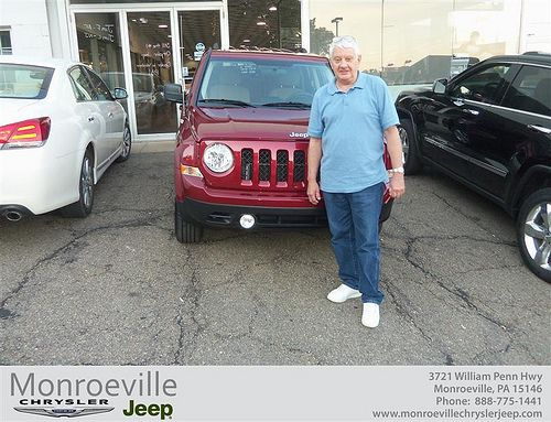 Monroeville Chrysler Jeep would like to say Congratulations to Lawrence Horansky on the 2013 Jeep Patriot from Richard Stevens III