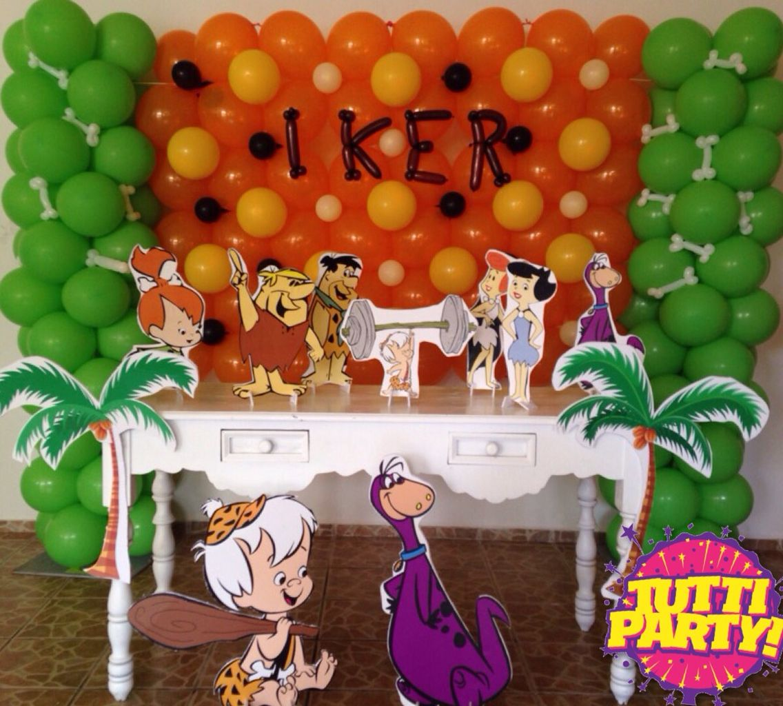 Pebbles flinstons picapiedra bam bam balloon decorations, bam bam ...