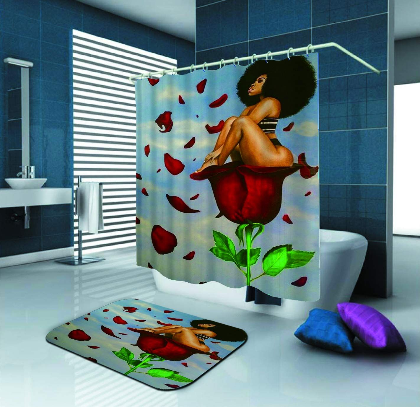 afrocentric shower curtain