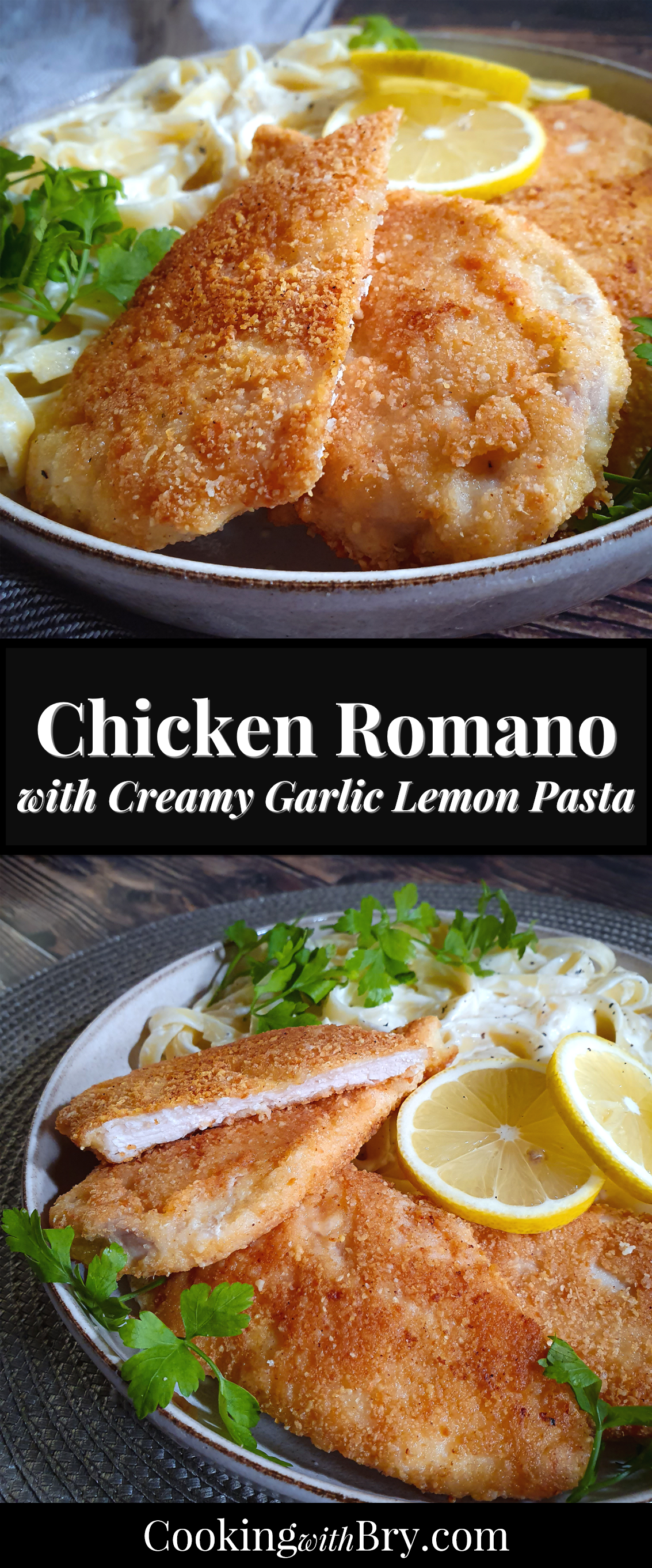 Photo of Chicken Romano with Creamy Lemon Pasta   Cooking with Bry