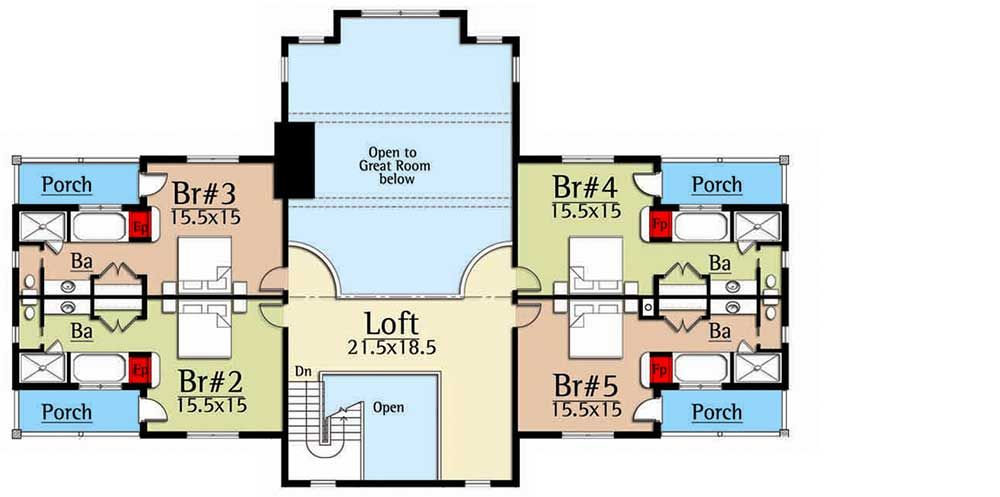Plan 18731ck Five Bedroom Suites House Plans Mountain House Plans Lake House Plans
