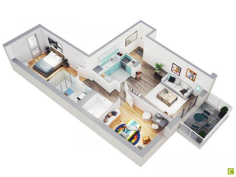 20 Splendid House Plans In 3d Pinoy House Plans House Plans Bungalow House Plans Interior Floor Plan