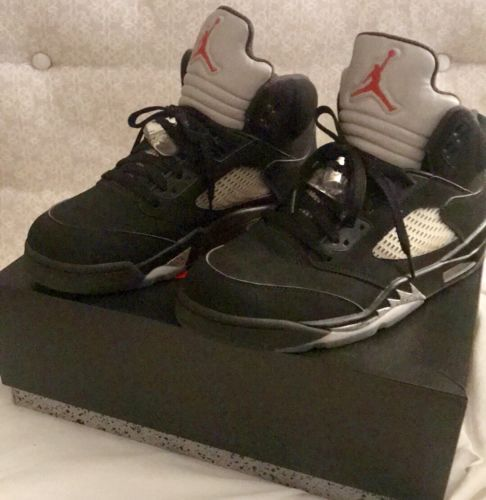 info for 42d12 21e54 2016 Nike Air Jordan 5 V Retro OG BG Black Fire-Red Metallic Size 10 (eBay  Link)