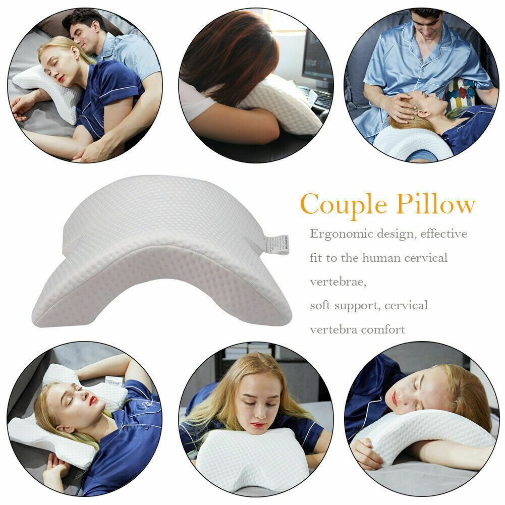 6 In 1 Memory Foam U-shaped Pillow Arched Couple Sleep Pillow