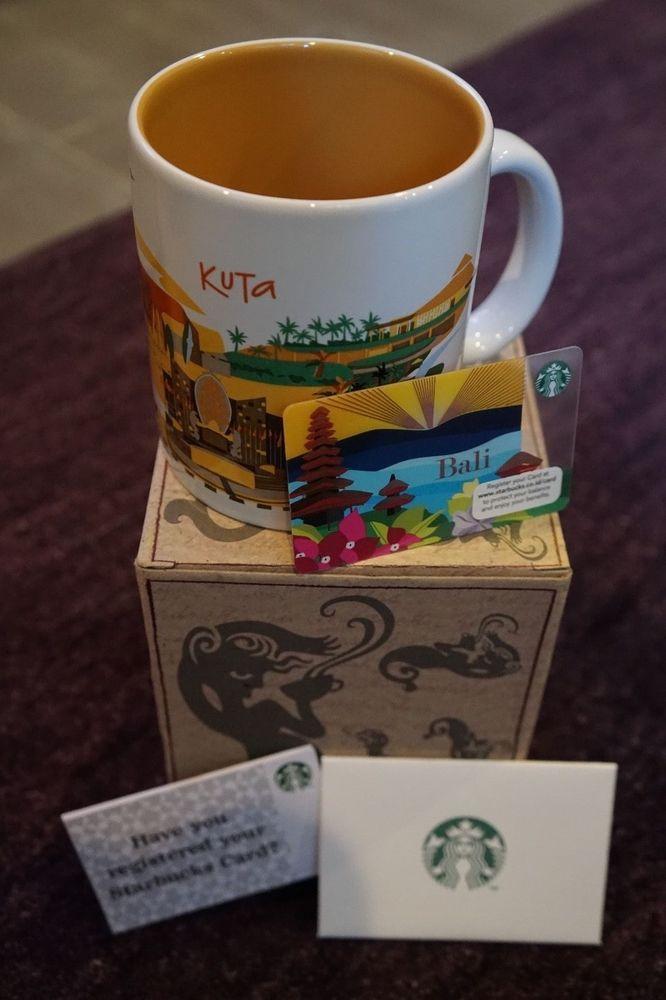 Starbucks Kuta Mug + Bali Gift Card Combo - RARE! - US Seller - New ...