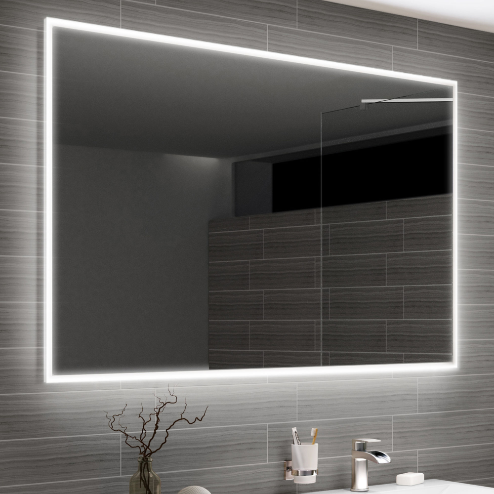 Large Led Mirror 1200mm Clever Demister Bathroom Mirror Soak