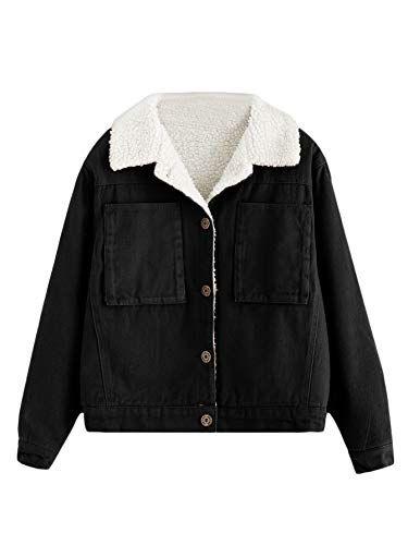 release date: ca0dd 3b4d9 DIDK Damen Kurz Winterjacke Jacke Sherpa Lined Mantel Coat ...