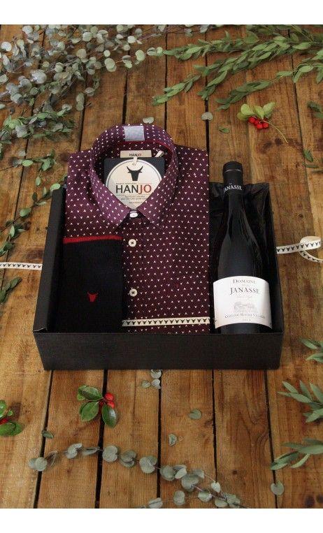 Chemise Mode Homme Motif Signature Rouge Bordeaux   Idee cadeau de