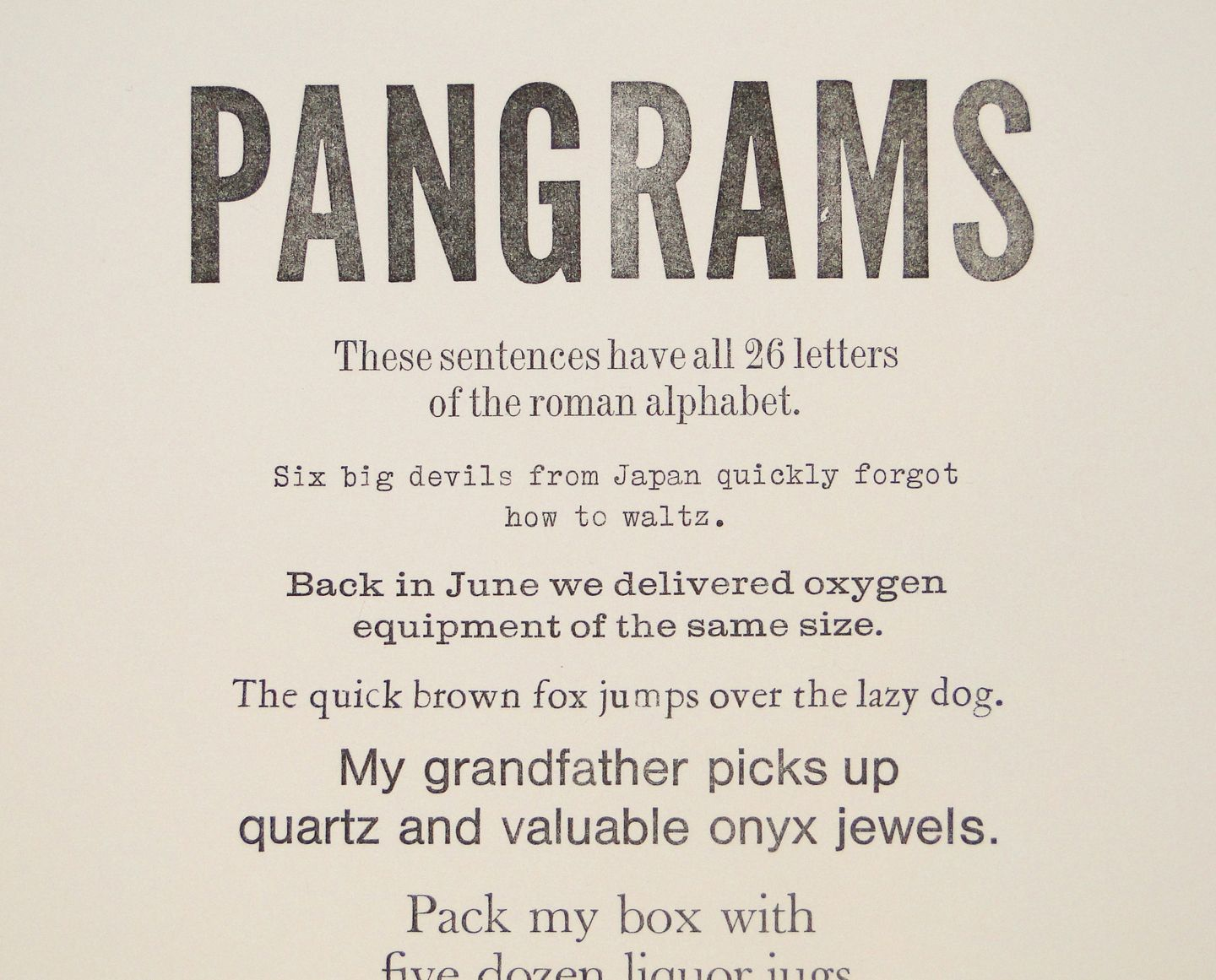 Pangrams Sentences That Use Every Letter In The Alphabet