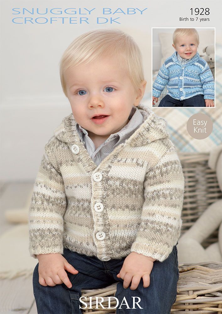 569a5271445f Shawl Collared and Hooded Cardigans in Sirdar Snuggly Baby Crofter ...