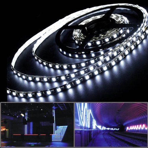 5 Meters 5m 5050 Smd 300 Led Strip Rope Light Flexible Cool White For Saloon Lobby Garden Patio Pool By Astra Dep Led Strip Lighting Strip Lighting Sound Stage