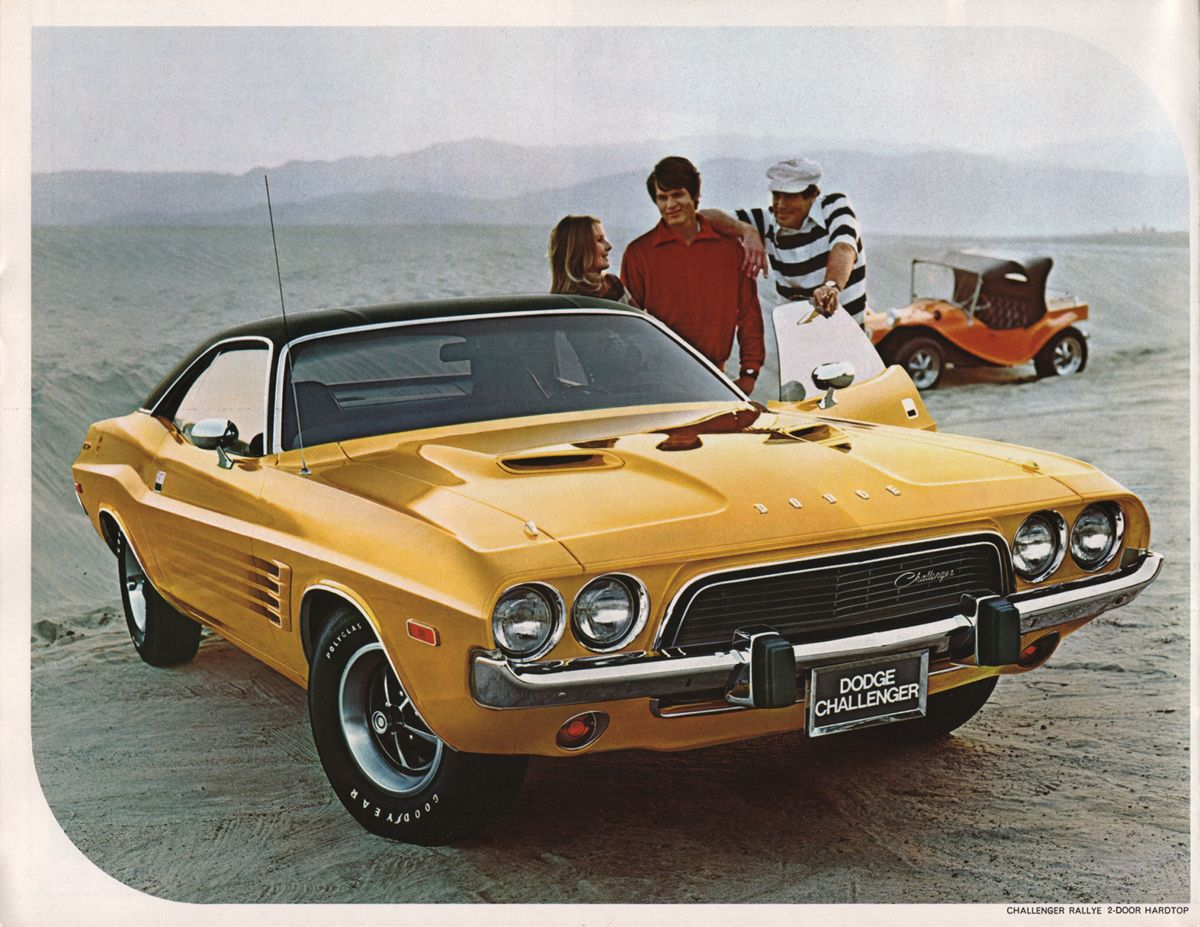 Chrysler 1974 Dodge Challenger Sales Brochure Classic Cars Muscle Dodge Challenger Classic Cars