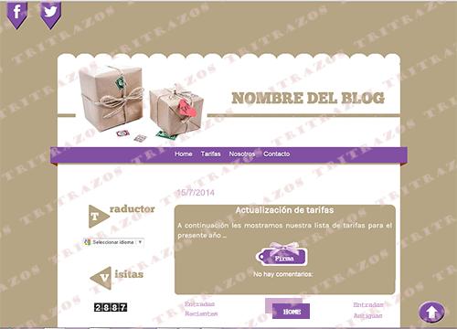 """""""Diseño de blog"""" en venta - Ref. """"Handmade1"""""""