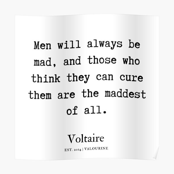 37   Voltaire Quotes   190815 Poster by QuotesGalore
