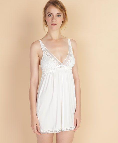 cd5f0923ff Crochet lace nightdress