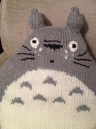Totoro Cushion Pattern By Karen Wall Knitcrochet Toys Pinterest
