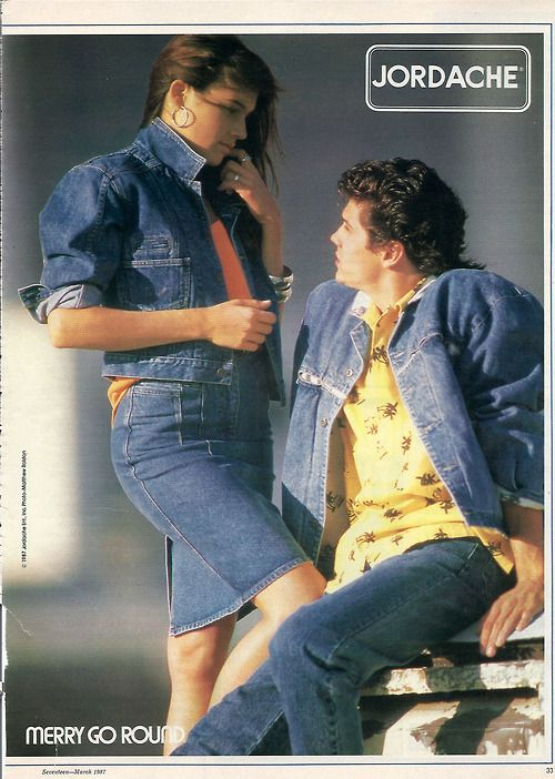 Nineteeneighties Jordache Ad From Seventeen Magazine